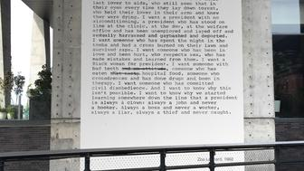 Zoe Leonard I want a president 19922016 rendering A High Line Commission on view October 11  November 17 2016 Commissioned and produced by Friends of the High Line and the New York City Department of Parks  Recreation