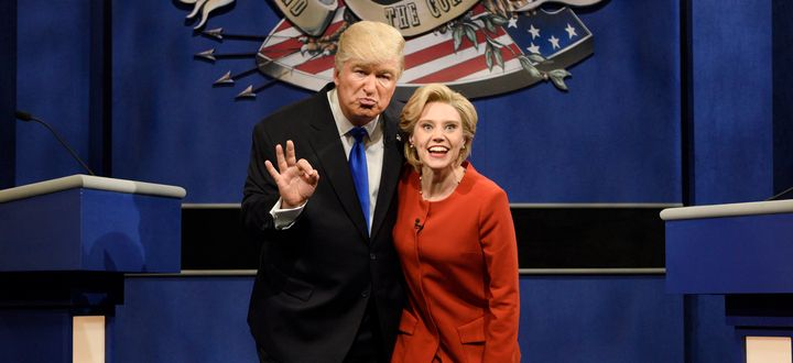 """Alec Baldwin and Kate McKinnon are playing Donald Trump and Hillary Clinton, respectively, on """"Saturday Night Live"""" this elec"""