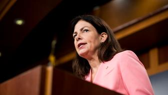 UNITED STATES - SEPTEMBER 20: Sen. Kelly Ayotte, R-N.H., speaks during the press conference on military aid to Israel on Tuesday, Sept. 20, 2016. (Photo By Bill Clark/CQ Roll Call)