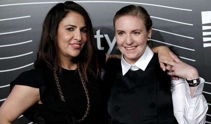 Jenni Konner and Lena Dunham at the Webby Awards in May 2016.