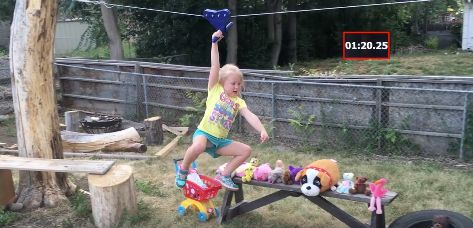 Lylah only needs one hand to beat the zip-line.