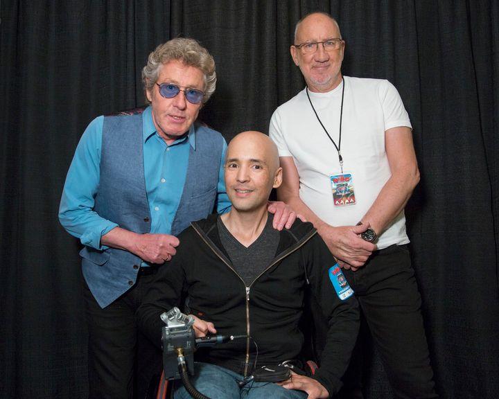 l-r: Roger Daltrey, Hernan Barangan, Pete Townshend
