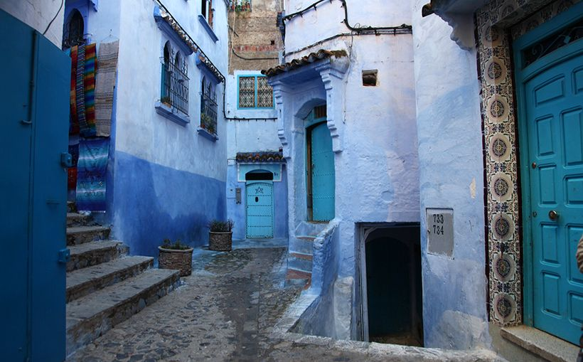 The blue-washed walls of Chefchaouen, Morocco