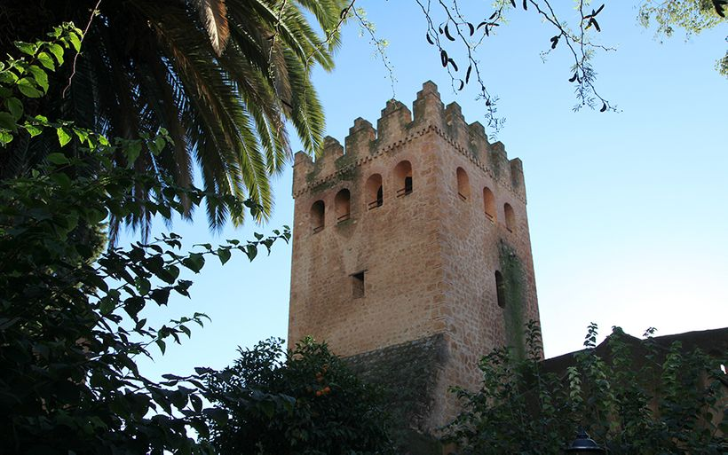 The Moorish Tower of the Kasbah in Chefchaouen, Morocco