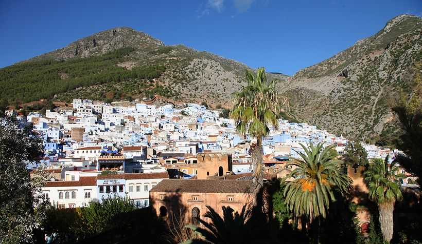 Chefchaouen is nestled in the Rif Mountains