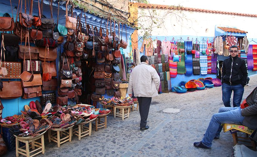 Chefchaouen is a shopper's dream