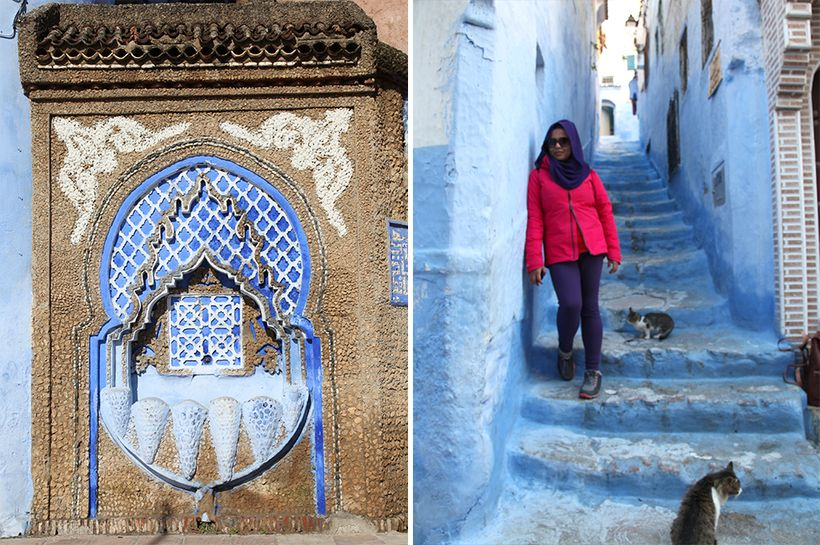 Purple Scarf Girl in Chefchaouen, Morocco