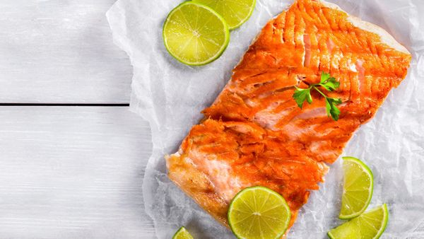 In this fresh recipe, a lime-miso marinade gives salmon fillets a pleasant zest, though you could easily sub in lemon or oran