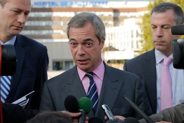 Nigel Farage said he 'deeply regretted' the
