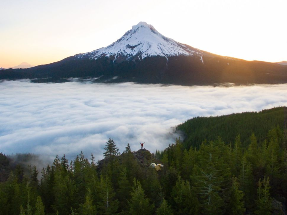 Photographer Andrew Studer in Mount Hood, Washington.