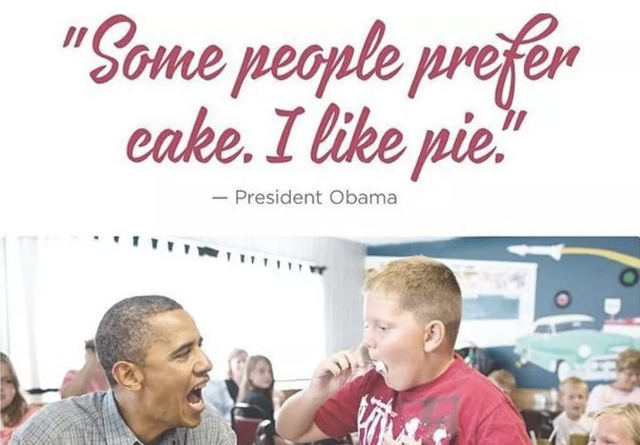 The way President Obama told the nation that he prefers pie over cake.