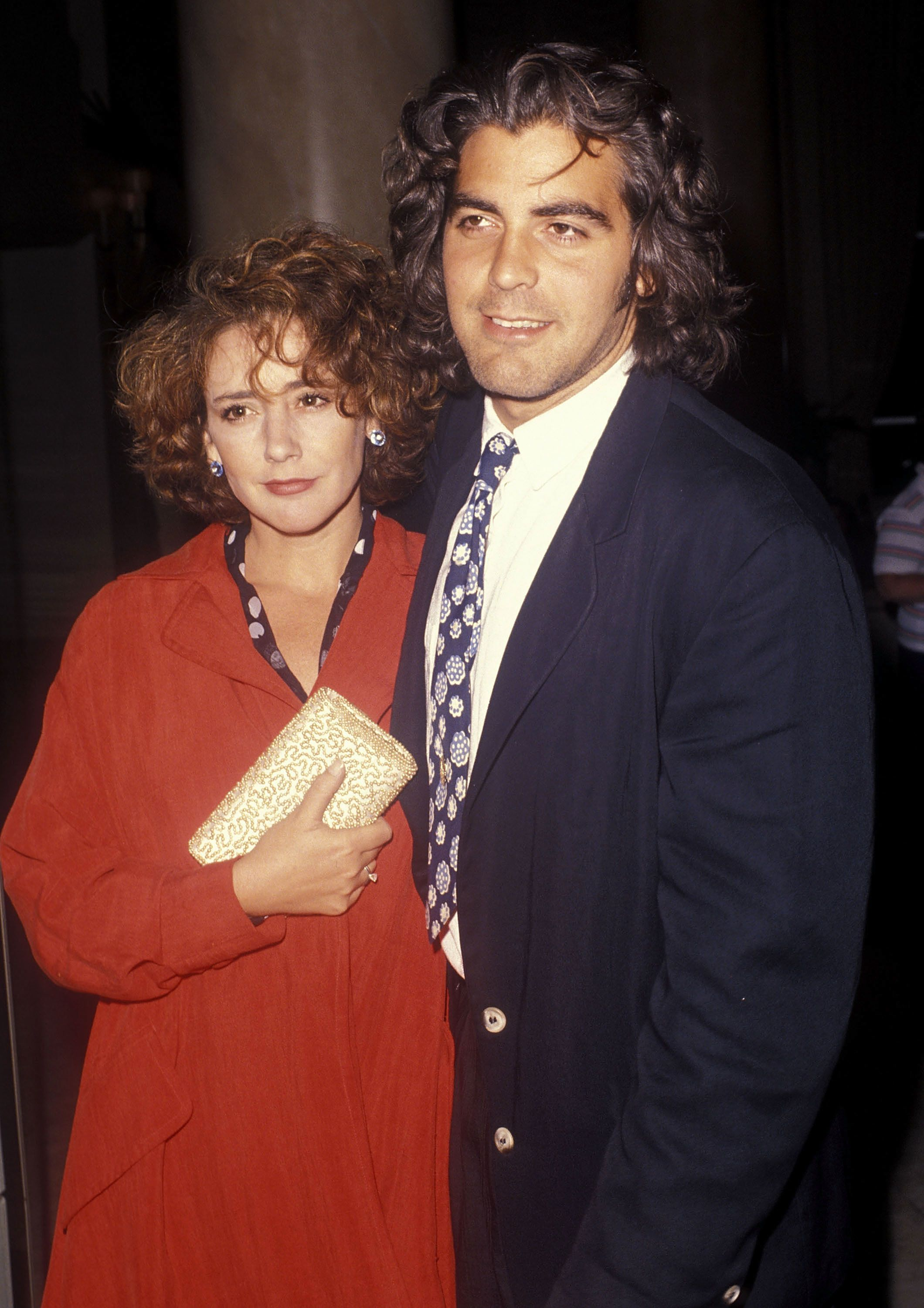 CENTURY CITY, CA - JUNE 14:   Actor George Clooney and wife Talia Balsam attend the ABC Television Affiliates Party on June 14, 1990 at the Century Plaza Hotel in Los Angeles, California. (Photo by Ron Galella, Ltd./WireImage)