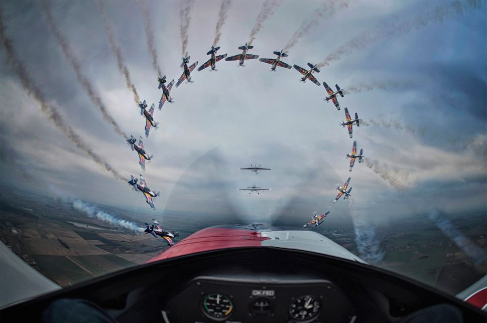 <i>The Flying Bulls aerobatic team take to the air in style&nbsp; in Czech&nbsp;Republic. <br></i><strong><br>Daniel Vojtech: