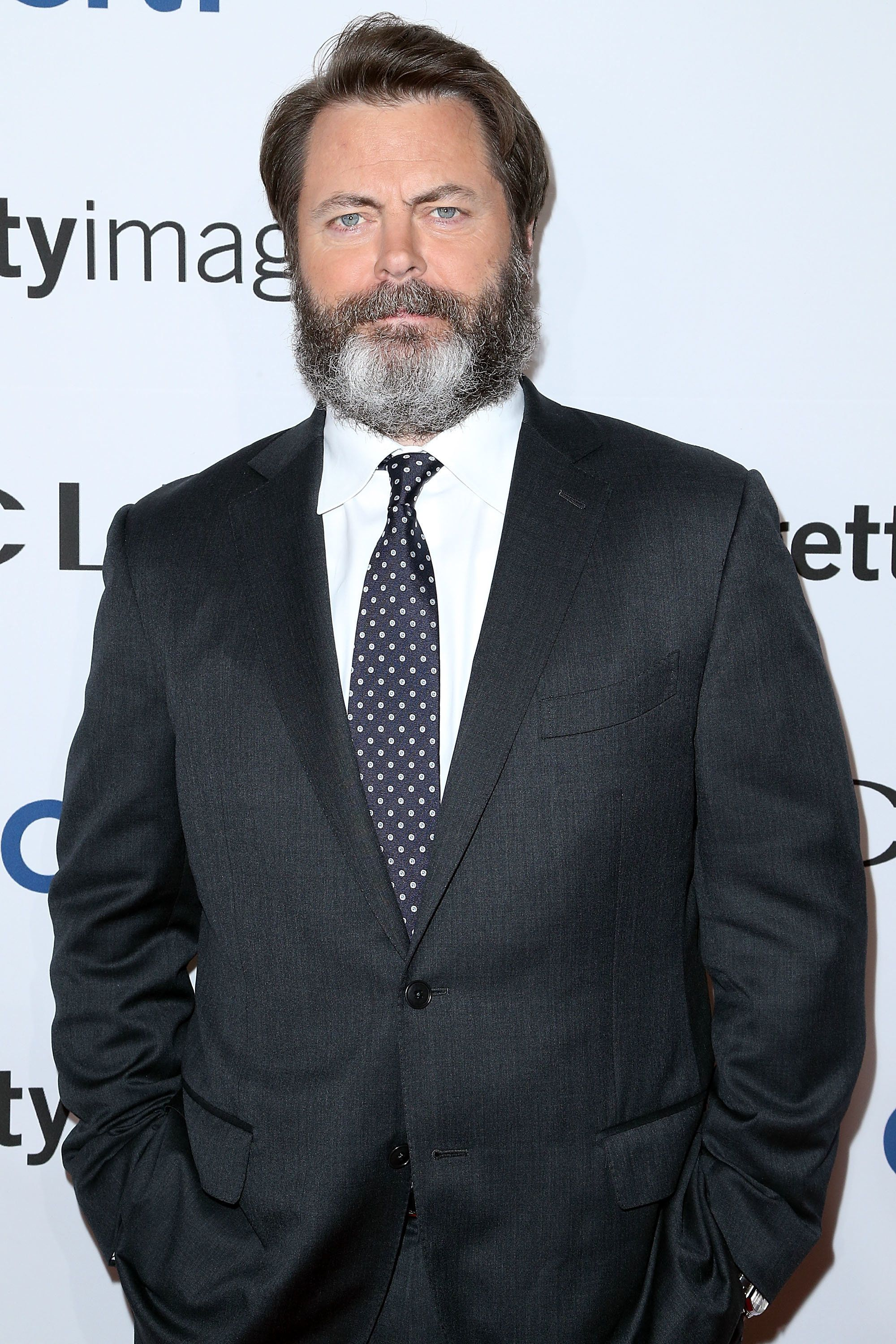 NEW YORK, NY - SEPTEMBER 28:  Actor  Nick Offerman attending the 2016 CLIO Awards  at American Museum of Natural History on September 28, 2016 in New York City.  (Photo by Jimi Celeste/Patrick McMullan via Getty Images)