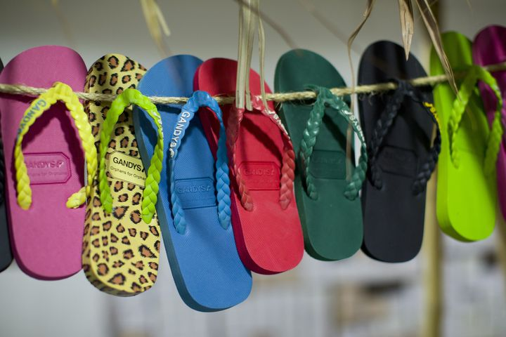 Flip Flops made by sandal-making firm Gandys Flip Flops are pictured in south west London on December 17, 2014.