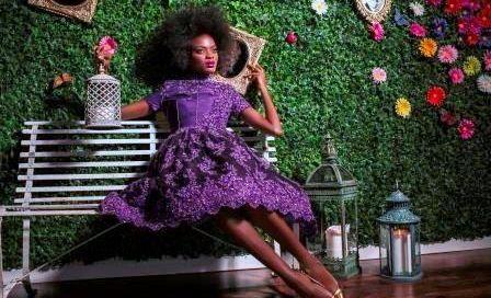 """""""Purple Orchid"""" dress to benefit Nashville charity End Slavery Tennessee."""