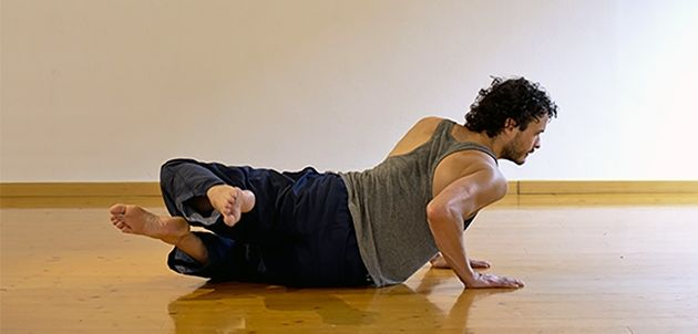 A student doing a Feldenkrais® Awareness Through Movement