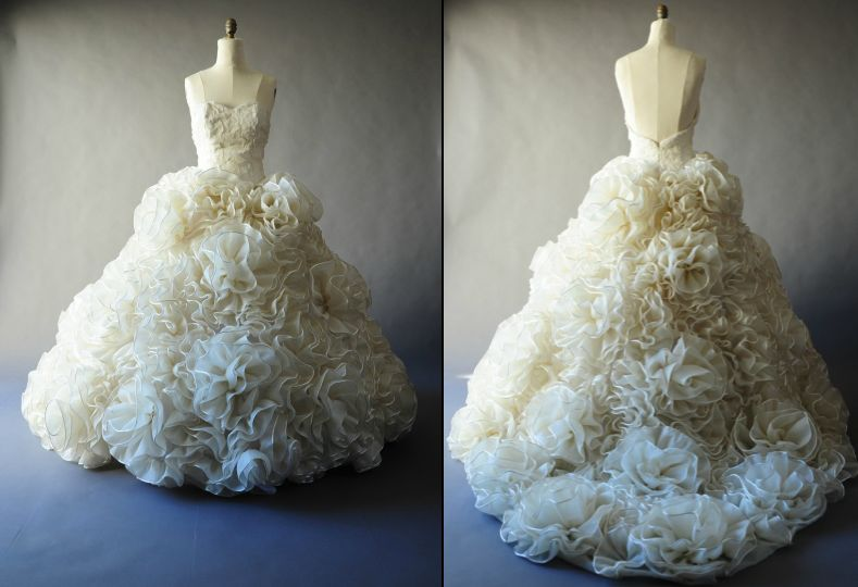 """Karen Hendrix Couture dress """"Patrese"""" is a part of her Garden Gown Collection."""