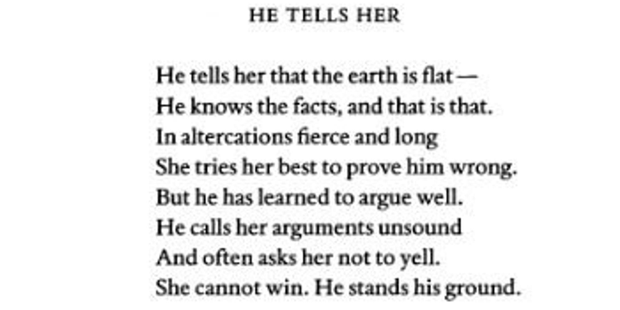 this perfect poem about mansplaining written before twitter this perfect poem about mansplaining written before twitter was around the huffington post
