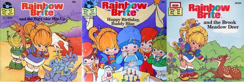 Three of the original Rainbow Brite books