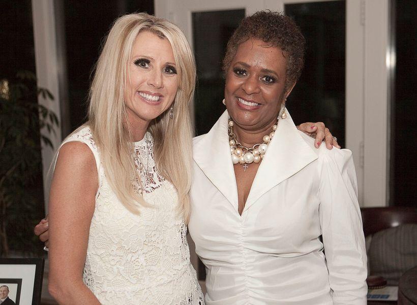 Karen Shayne, founder of Women Survivor Alliance with Sonya Hairston.