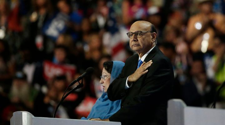 Khizr Khan spoke at the Democratic National Convention in Philadelphia in July.