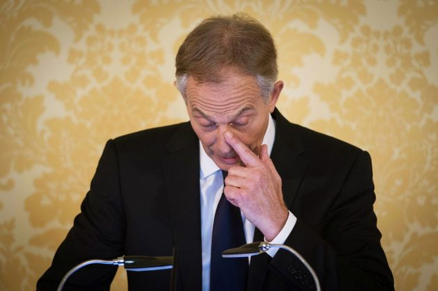 Blair wipes a tear as he expresses 'regret' at his Chilcot Report press