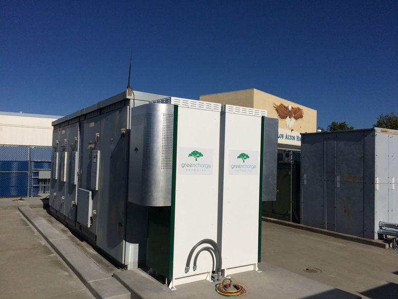 Energy storage units such as this one are proving to be a very attractive option for schools and other large facilities that