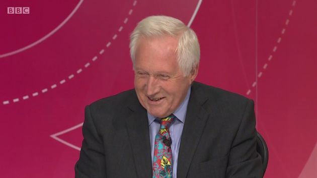 Dimbleby couldn't hide his
