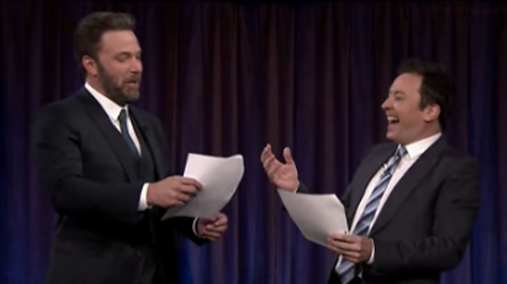 Ben Affleck, Jimmy Fallon Perform Cute 'Accountant' Scenes Written