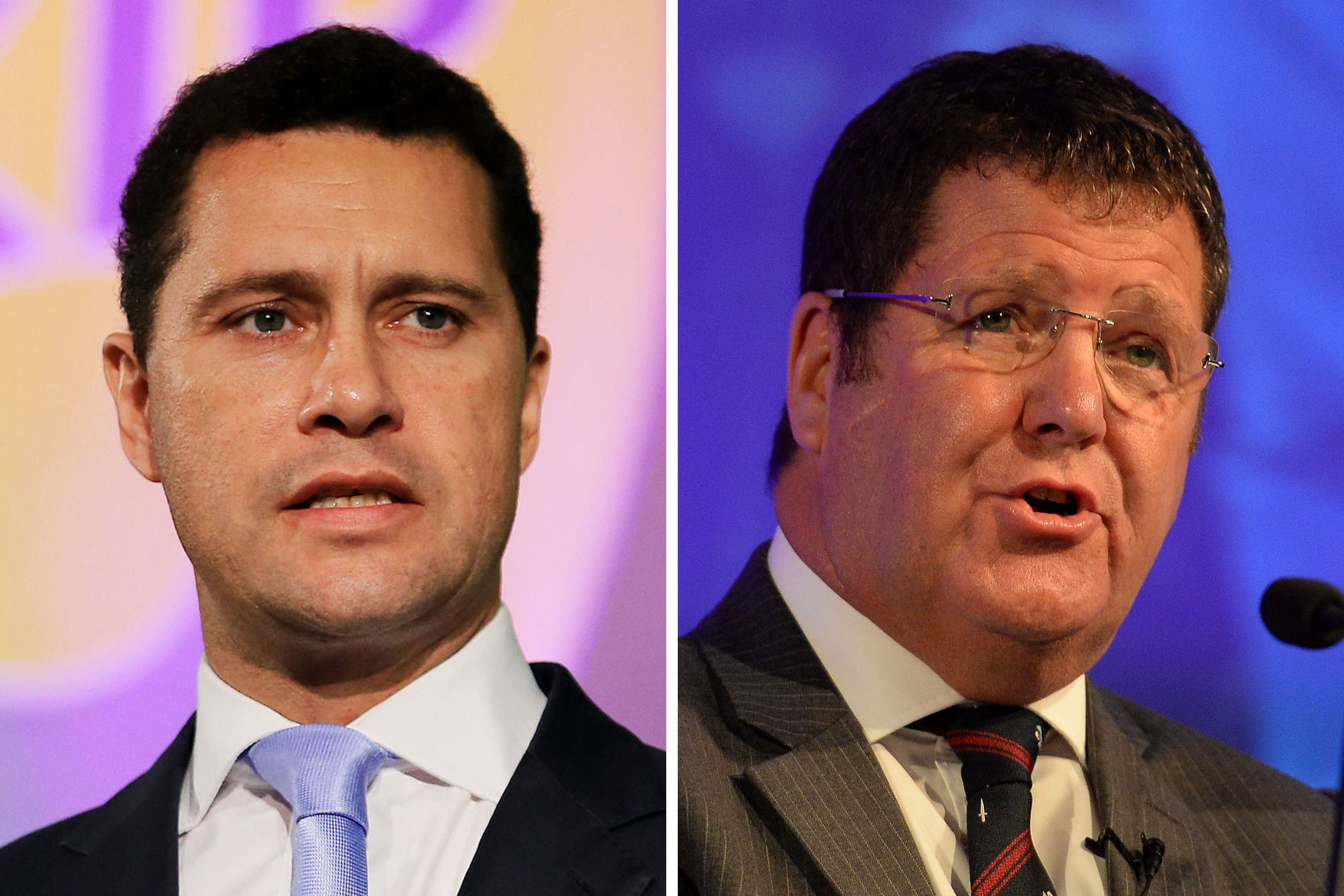 Woolfe, left, and Hookem, right, clashed at a meeting of Ukip MEPs