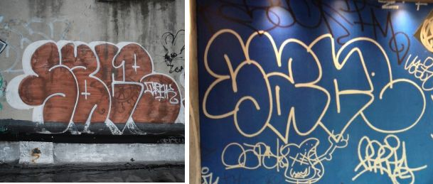 Left: Snow's tag Right: The McDonald's