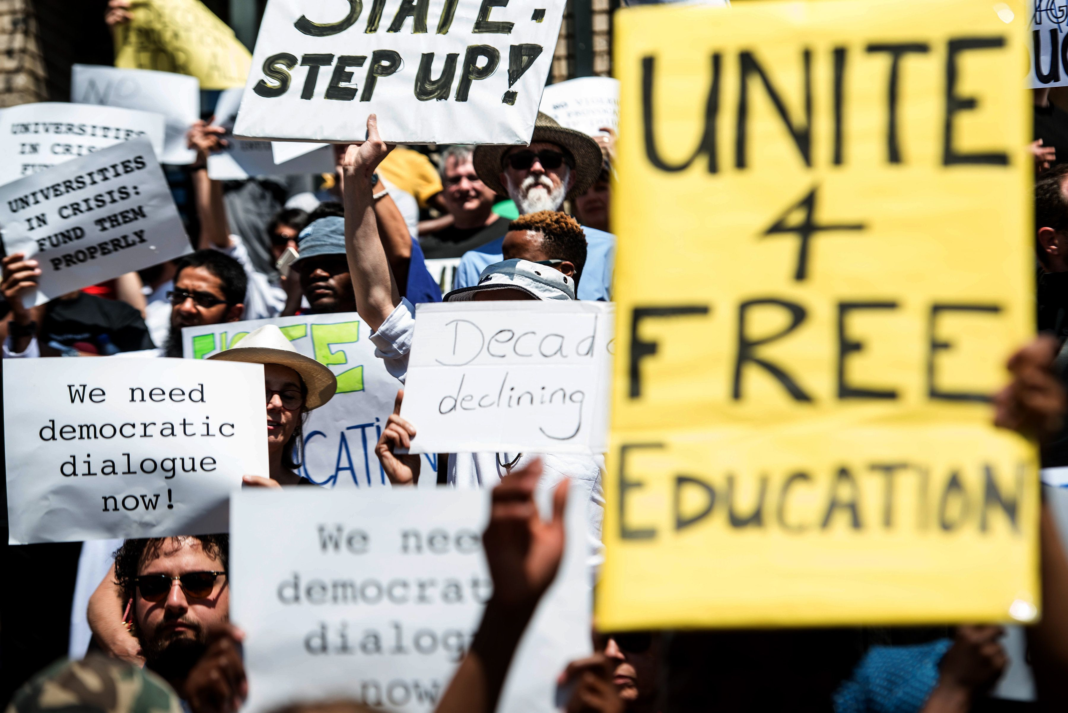 Student protesters in South Africahave demanded that all universities in the country are shut down...