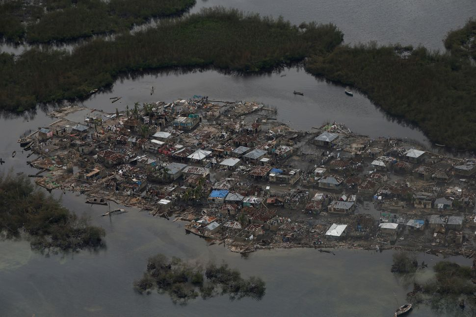 Destroyed houses are seen in a village after Hurricane Matthew passes Corail, Haiti, October 6, 2016.