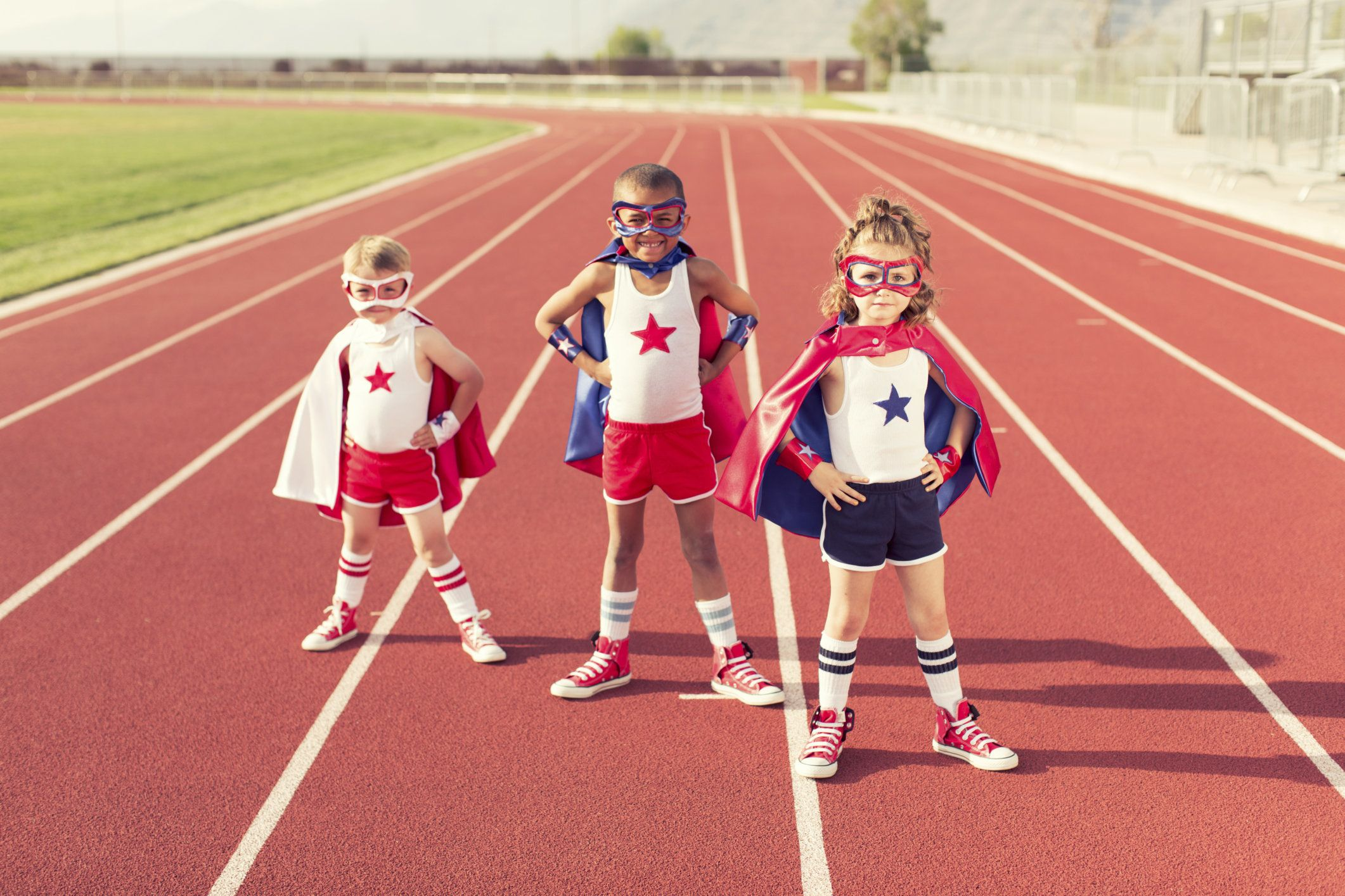 Three young superheroes train to be the fastest superheroes on the planet.