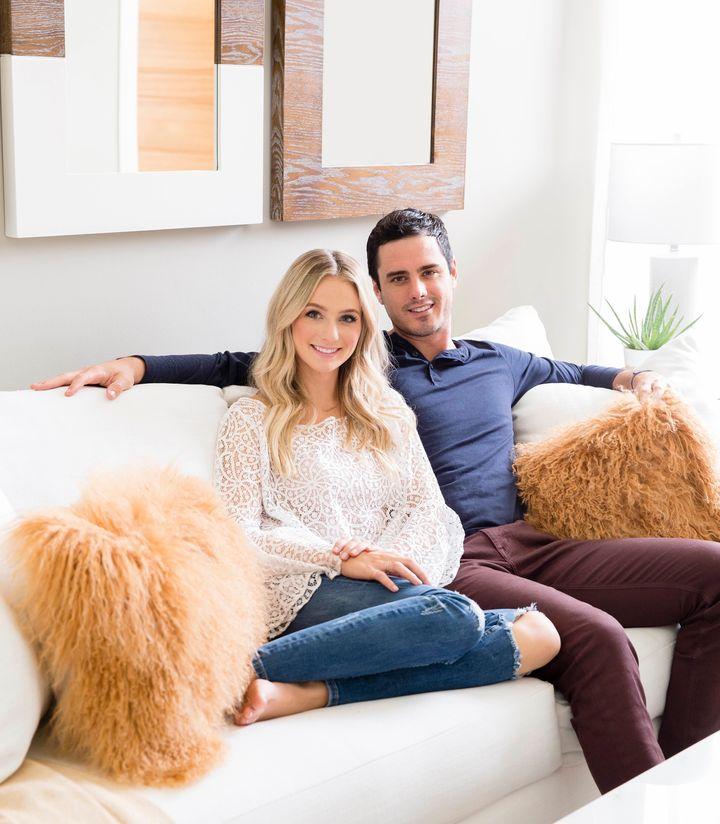 """The Bachelor"" stars Ben and Lauren attheir home in Denver."
