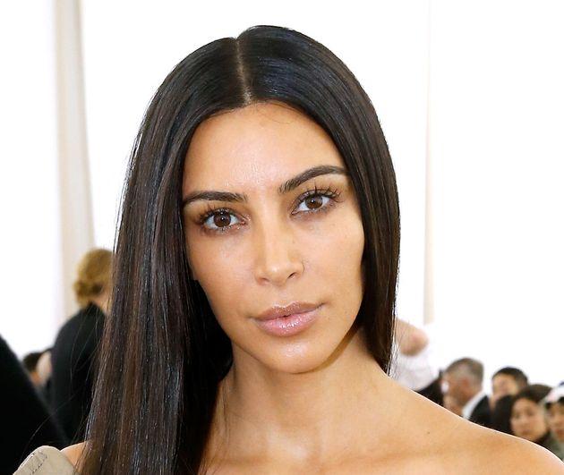 Kim Kardashian attends the Balenciaga show in Paris before the