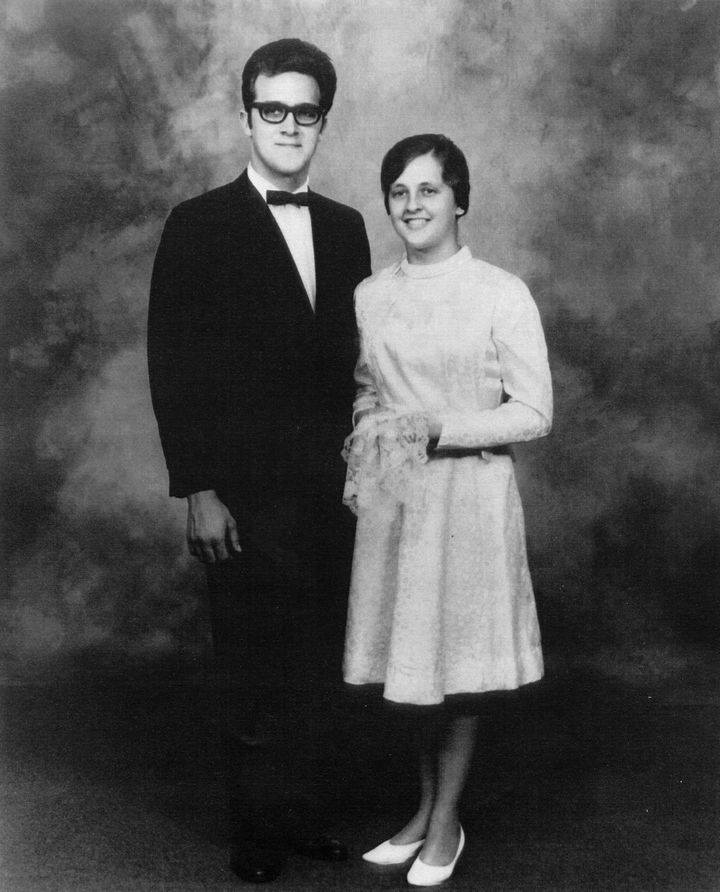 Anne and Jonas on their wedding day in 1968.
