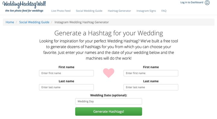 Wedding Hashtags Generator.Top Wedding Tools For 21st Century Couples Huffpost Life