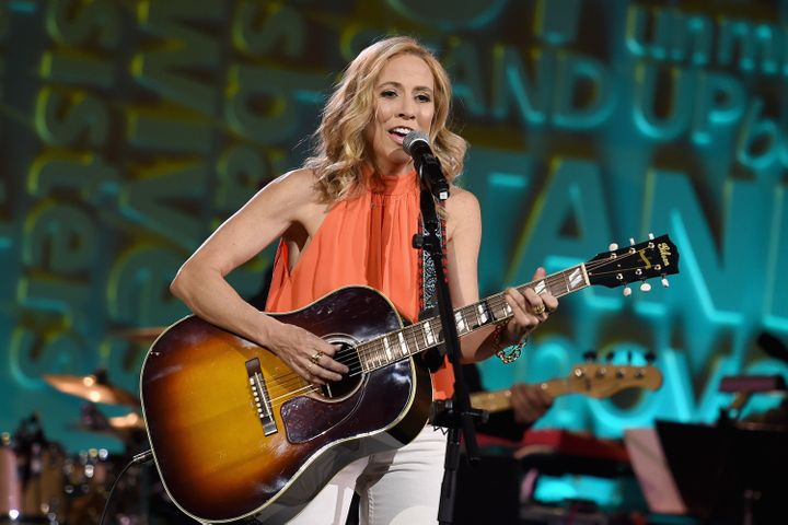 Recording artist Sheryl Crow performs onstage during Stand Up To Cancer's New York Standing Room Only, honoring Katie Couric