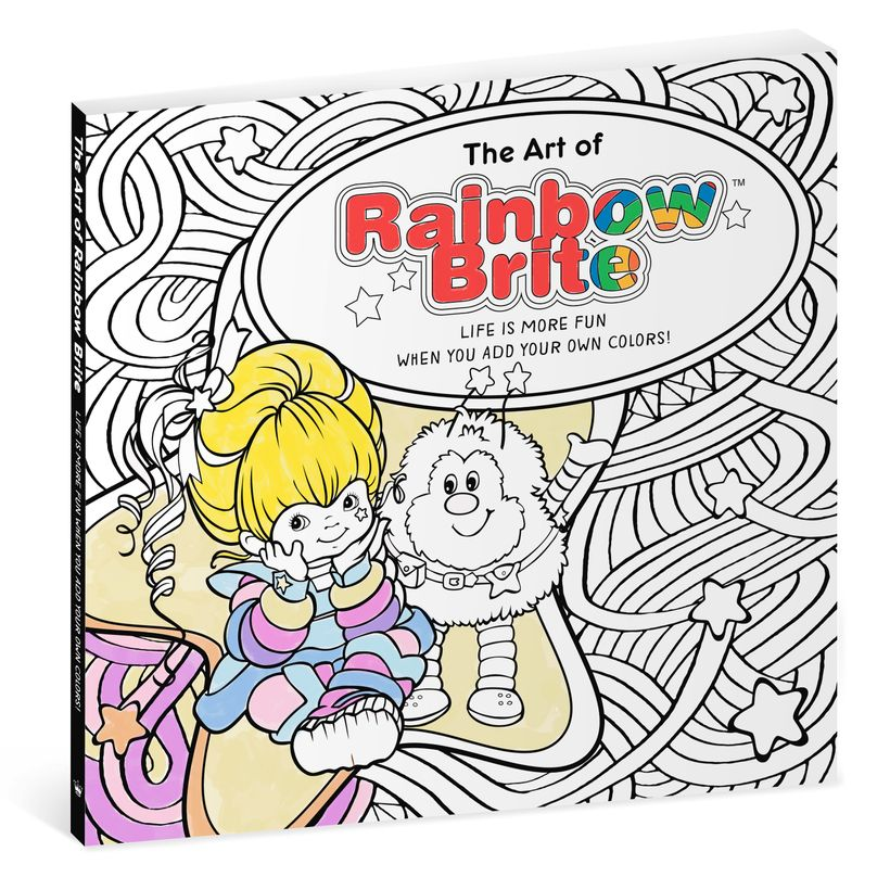 """""""The Art of Rainbow Brite"""" adult coloring book"""