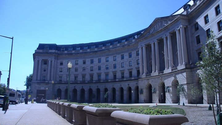 The U.S. Environmental Protection Agency's headquarters in Washington, D.C. The EPA has struggled to coordinate with sta