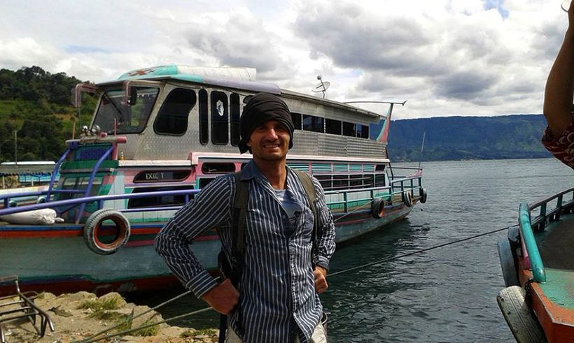 About to board and set off for new shores. Danau Toba, Sumatera.
