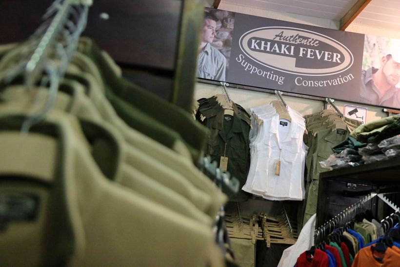 The company Khaki Fever caters to tourists passing through the town of Hoedspruid.  Small, specific companies like Khaki Feve