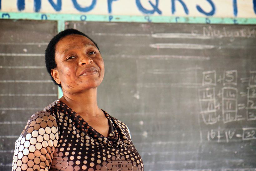 Suzan Hlabangwane both attended and now teaches at Sihlekisi primary school just adjacent to an entrance of Kruger National P