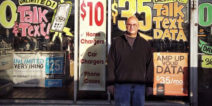 Sonny Dayan outside his store in Ferguson in 2014.