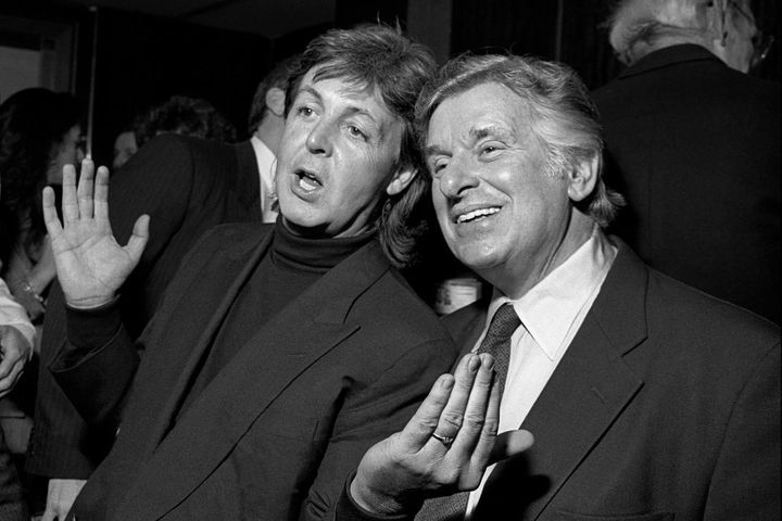 Paul McCartney with promoter Sid Bernstein in 1991