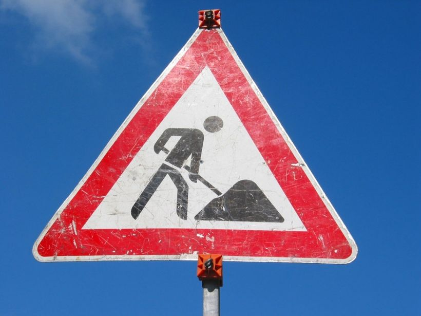 """<a href=""""http://www.mysafetysign.com/construction-signs"""">Learn the construction signs here</a>"""