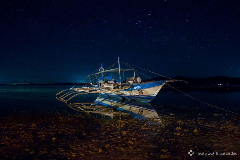 Night sky in Sangat Island, Coron