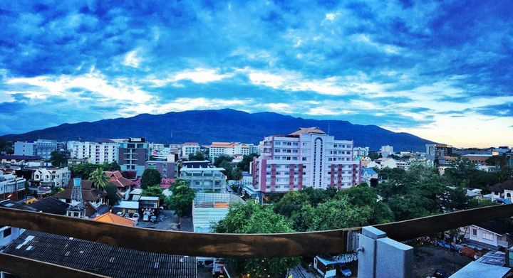 Working from a rooftop in Chiang Mai, Thailand